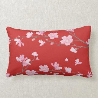 Cherry Blossom - Transparent Background Lumbar Pillow