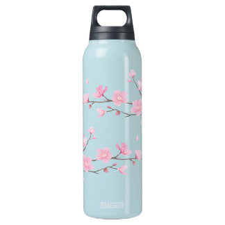 Cherry Blossom - Transparent Insulated Water Bottle