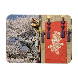 Cherry blossom tree and silk tapestry of vinyl magnets
