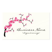 Cherry Blossom Tree Branch Business Card