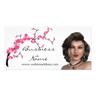 Cherry Blossom Tree Branch Customizable Photo Card