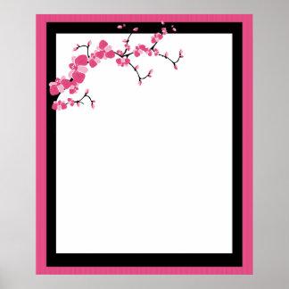 Cherry Blossom Tree Branch Poster Design 2
