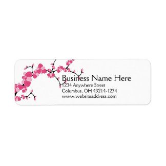 Cherry Blossom Tree Branch Return Address Labels 2