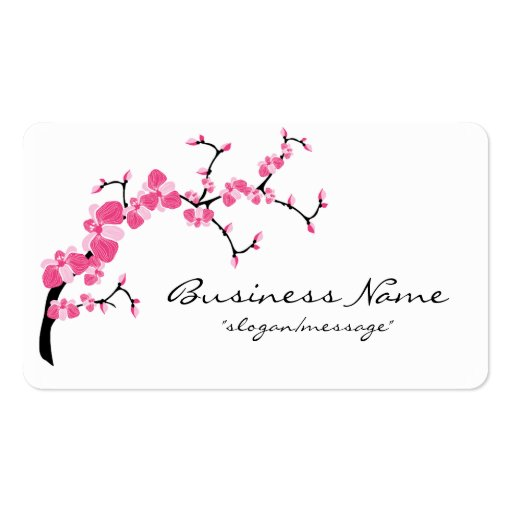 Cherry blossom business card templates page3 bizcardstudio cherry blossom tree branch rounded business card colourmoves