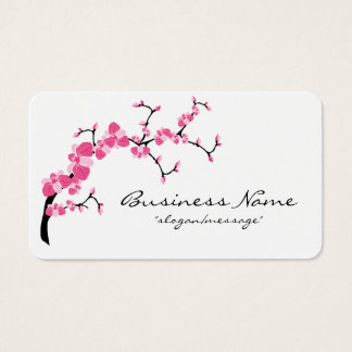 Cherry Blossom Tree Branch Rounded Business Card