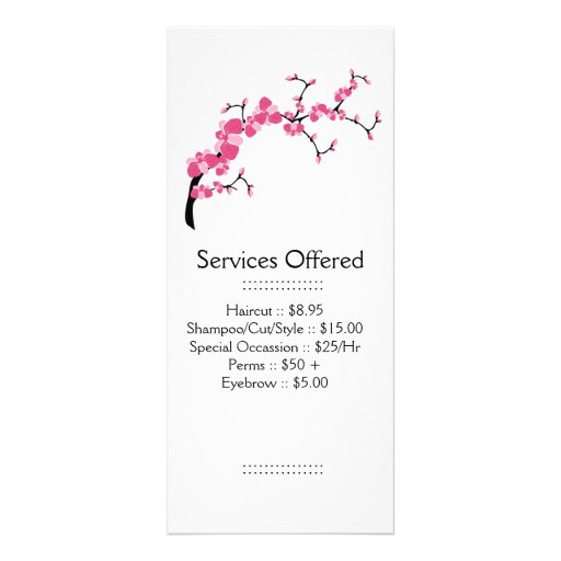 Cherry Blossom Tree Branch Services Rack Card