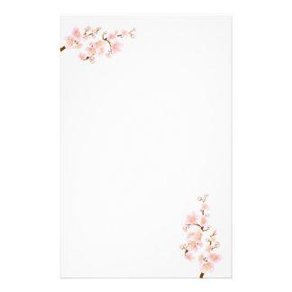 Cherry blossom tree branch Stationery
