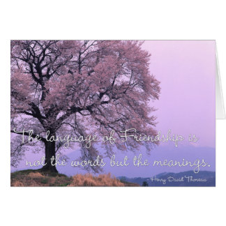 Cherry Blossom Tree Friendship Greeting Card