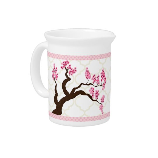 Cherry Blossom Tree Moorish Moroccan Trellis Beverage Pitchers