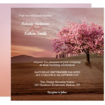 Cherry Blossom Tree Orchard Wedding Invitation