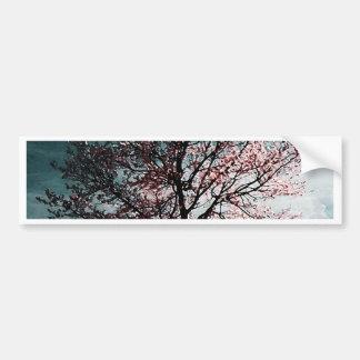 Cherry Blossom Tree Painting - Dusk Bumper Sticker
