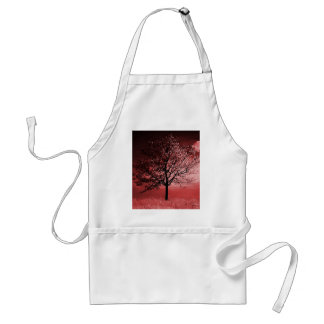 Cherry Blossom Tree Painting - Pink Adult Apron