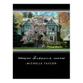 Cherry Blossom Tree Real Estate House Postcard