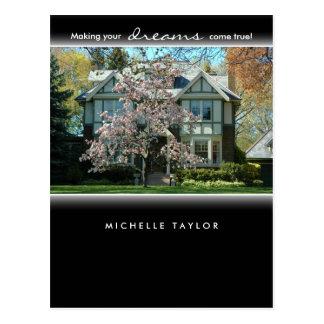 Cherry Blossom Tree Real Estate House Postcard 2