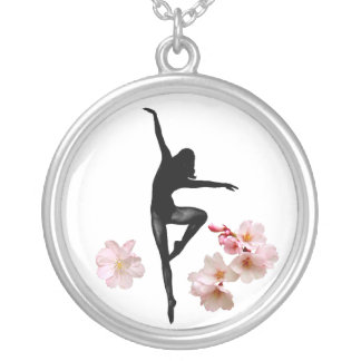 Cherry Blossom Tree Spirit Silver Plated Necklace