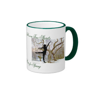Cherry Blossom Tree Spirits Ringer Mug