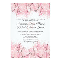 Cherry Blossom Tree Wedding Invitation