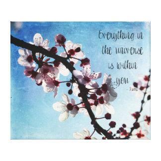 Cherry Blossom Universe Rumi Canvas Print