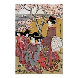 Cherry-blossom Viewing at Goten-yama Kitagawa