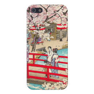 Cherry Blossom Viewing shiro kasamatsu bridge art Cover For iPhone SE/5/5s