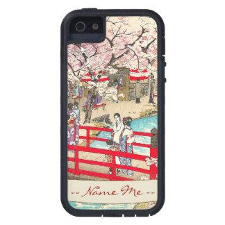 Cherry Blossom Viewing shiro kasamatsu bridge art iPhone SE/5/5s Case