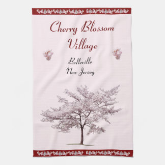 Cherry Blossom Village Kitchen Towel