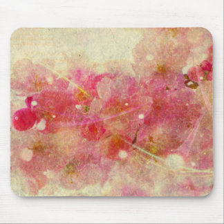 cherry blossom vintage romance abstract-off white mouse pad