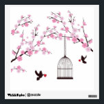 """Cherry Blossom Wall Decal<br><div class=""""desc"""">Cherry blossom with birds and bird cages wall decal. Cherry blossom tree with bird cages and doves wall decal. These delicate and beautiful cherry blossoms with cages and doves are a great addition to your room. These wall decals will instantly bring natural charm indoors and create a unique atmosphere.</div>"""