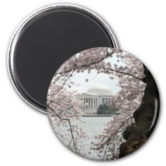 Cherry Blossom Washington DC 2 Inch Round Magnet