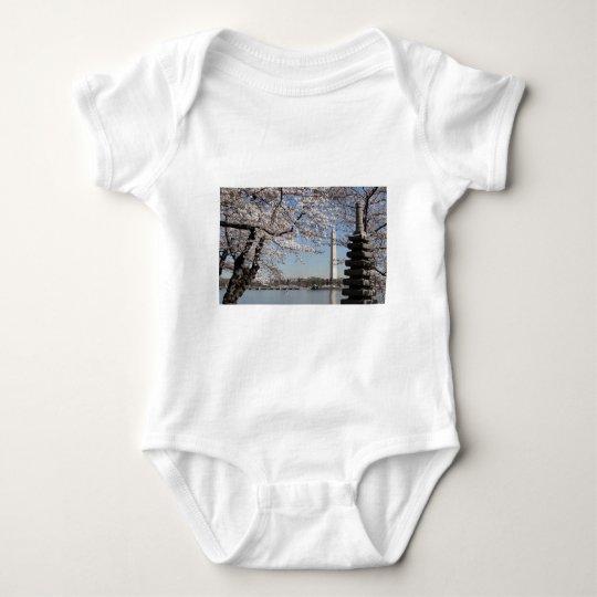 Cherry Blossom Washington DC Baby Bodysuit