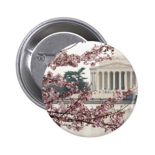 Cherry Blossom Washington DC Button