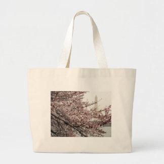 Cherry Blossom Washington DC Jumbo Tote Bag