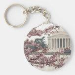 Cherry Blossom Washington DC Basic Round Button Keychain