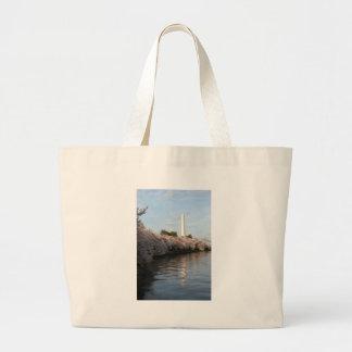 Cherry Blossom Washington monument Canvas Bags