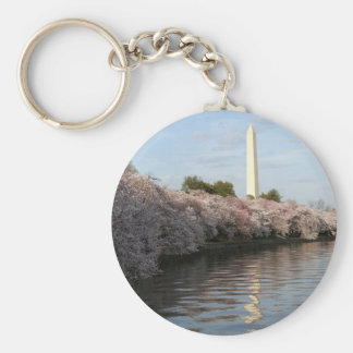 Cherry Blossom Washington monument Keychain