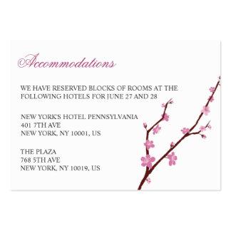 Cherry Blossom Wedding Accommodation Cards