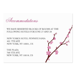 Cherry Blossom Wedding Accommodation Cards Large Business Card