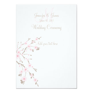 Cherry Blossom Wedding Church Programs