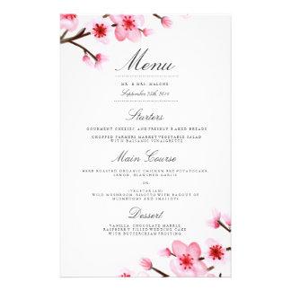 Cherry Blossom Wedding Dinner Menu