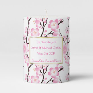cherry blossom wedding engagement occasion candle