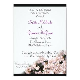 Cherry Blossom Wedding 5.5x7.5 Paper Invitation Card