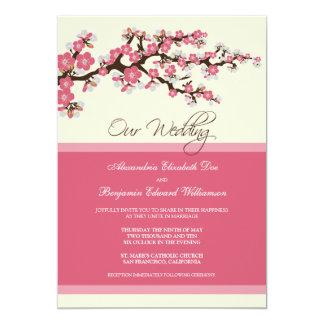 Cherry Blossom Wedding Invitation (pink)