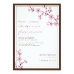 "Cherry Blossom Wedding Invitations 5"" X 7"" Invitation Card"