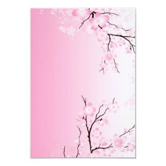 "Cherry Blossom Wedding Invitations 3.5"" X 5"" Invitation Card"