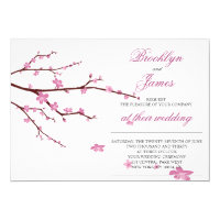 Cherry Blossom Wedding Invites