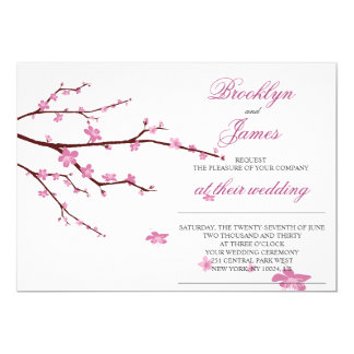 Cherry Blossom Wedding Invitations Announcements Zazzle