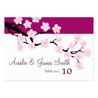 Cherry Blossom | Wedding Place Cards Large Business Cards (Pack Of 100)