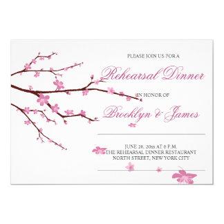 Cherry Blossom Wedding Rehearsal Invitations