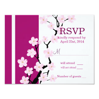 Cherry Blossom | Wedding RSVP Card