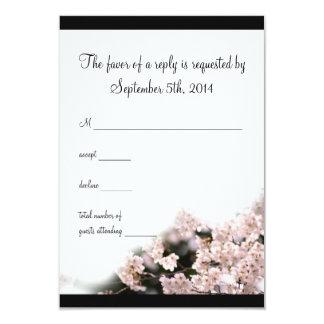 Cherry Blossom Wedding RSVP Custom Invite